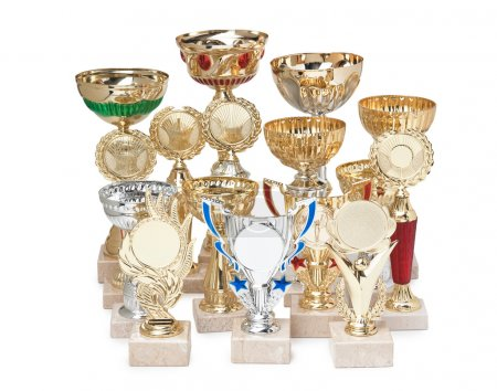 Various awards isolated on white