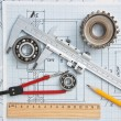 Technical drawing and tools...