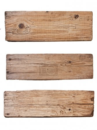 Photo for Old plank of wood isolated on white background - Royalty Free Image