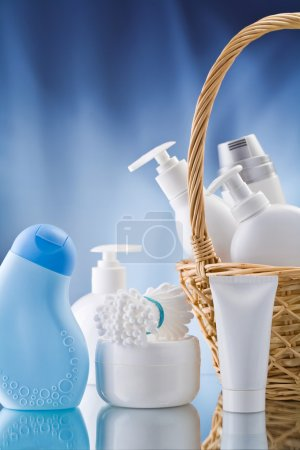 Copy space image of toiletries