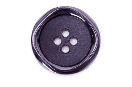 Photo pour Bouton noir isolé sur blanc - image libre de droit