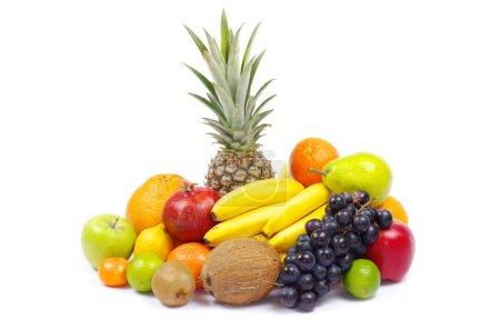 fruits sur blanc