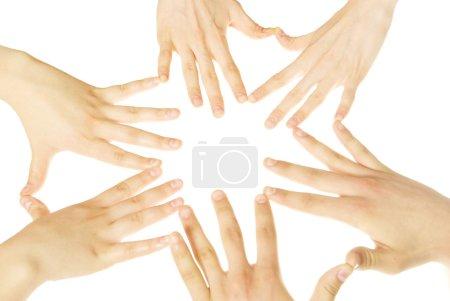 Hände auf weiß