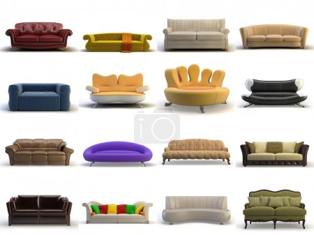 Photo for 3d sofa on the white background - Royalty Free Image