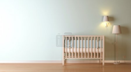 Photo for Nursery modern 3d interior composition - Royalty Free Image