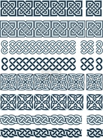 Photo for Elements of design in Celtic style in a - Royalty Free Image