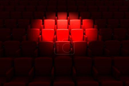 Photo pour Salle de cinéma vide - image libre de droit
