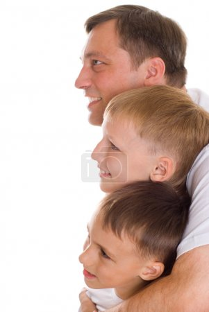 Brother and their father