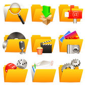 Set of 9 folder icons