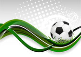 Abstract background with soccer ball