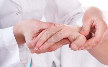Hands massage.