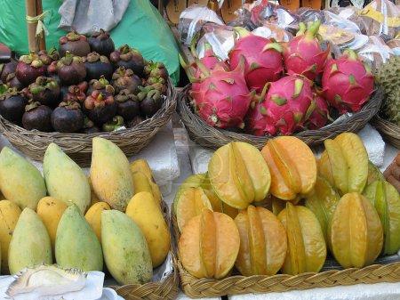 Group of Thai fruit.