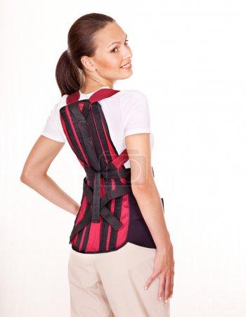 Trauma of back. Corset for posture.