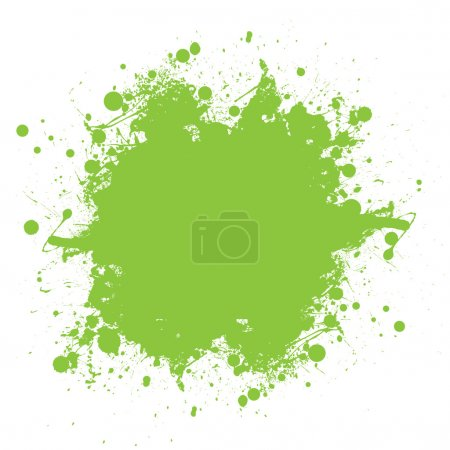 Photo for Grunge green ink splat with copyspace and white background - Royalty Free Image