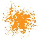 Orange ink splat