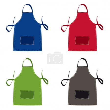 Photo for Cooks apron collection in bright colours with pocket - Royalty Free Image