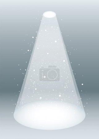 White smoke spotlight
