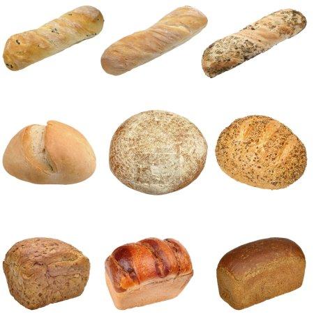 Photo pour Différents types de pain - image libre de droit