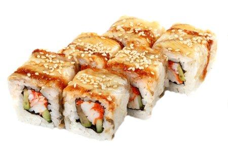 Photo pour Chefs-d'œuvre de la cuisine japonaise. Il est isolé sur fond blanc. - image libre de droit