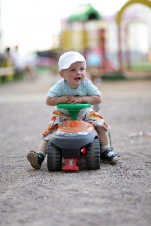 Child drives toy Quad Bike