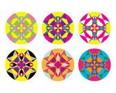 Kaleidoscope geometric pattern Abstract vector background