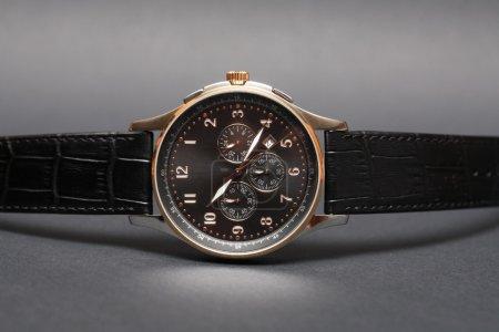 Expensive Wristwatch On Dark