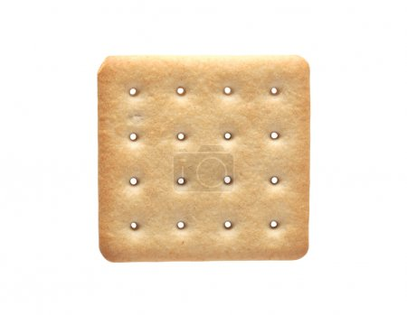 Photo for One square cracker isolated on white background with clipping path - Royalty Free Image