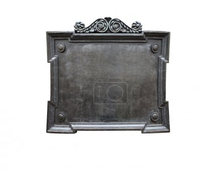 Old Metal Plaque