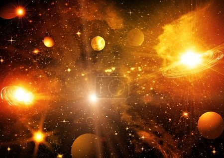 Photo for Stars of a planet and galaxy in a free space - Royalty Free Image