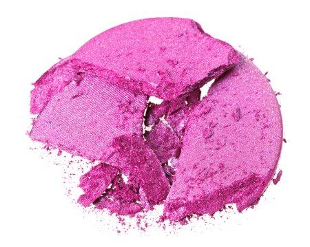 Photo pour Ombre à paupières violet cassé, isolé sur blanc macro - image libre de droit
