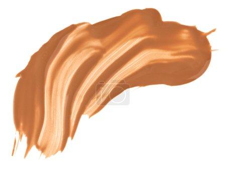 Photo pour Échantillons de maquillage crème (fond de teint) beige, isolés sur blanc - image libre de droit