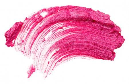 Photo pour Coup de rouge à lèvres (échantillon), isolé sur blanc - image libre de droit