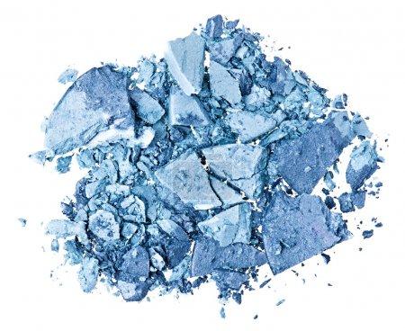 Photo pour Ombre à paupières bleu brisé, isolé sur blanc macro - image libre de droit