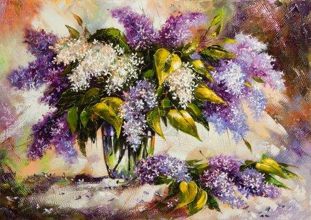 liliowy-bukiet-w-wazonie