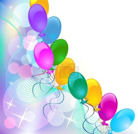 Illustration pour Fond abstrait de célébration avec des ballons . - image libre de droit