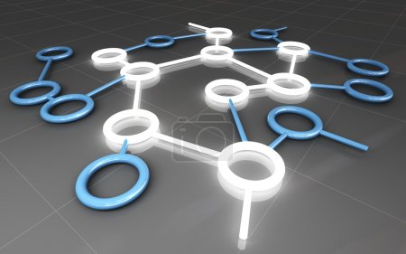 Photo pour Fine image 3D de l'entreprise de connexion - image libre de droit