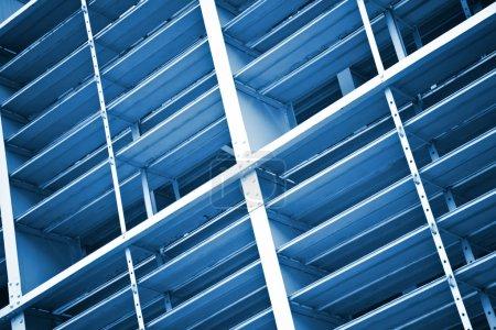 Photo pour Détail de la structure métallique moderne - image libre de droit