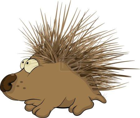 Illustration for Small hedgehog Cartoon animals - Royalty Free Image