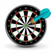 Vector Dartboard with Dart on white background...