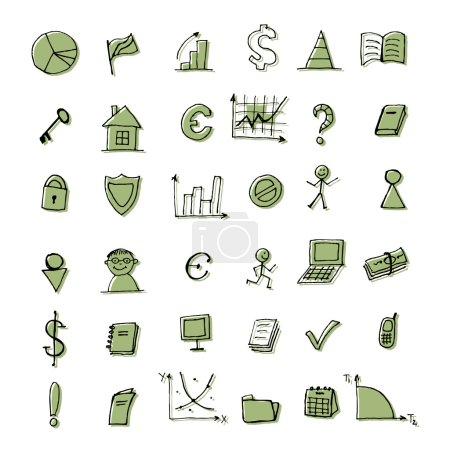 Illustration pour Ensemble d'icônes financières pour votre design - image libre de droit