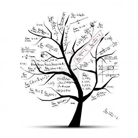 Illustration for Math tree for your design - Royalty Free Image