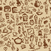 Coffee time seamless background for your design