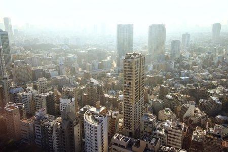 Foto de Ver Centro de la ciudad de Tokio desde arriba - Imagen libre de derechos