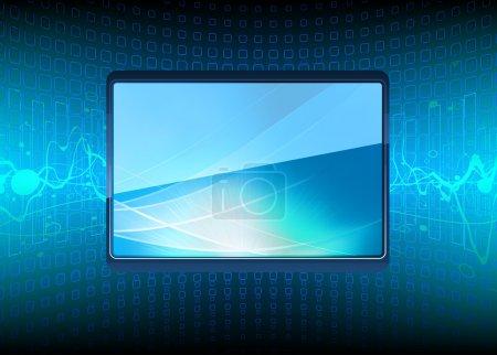 Photo pour Illustration de l'écran de télévision plasma moderne - image libre de droit