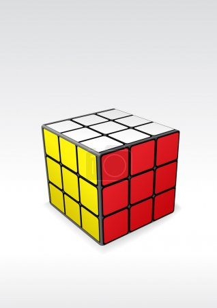 Illustration for Vector image of finished rubic's cube - logic puzzle. Vector illustration. - Royalty Free Image