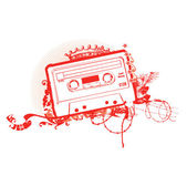 Cassette Tape Stencil  Vector illustration