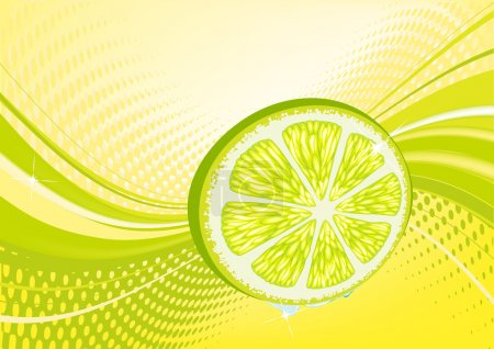 Yellow abstract fruit background: composition of d...