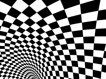 Abstract illusion. Black and white...