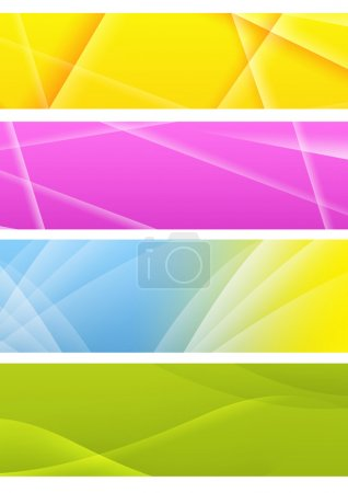 Photo for Collection of abstract banners. Isolated over white - Royalty Free Image
