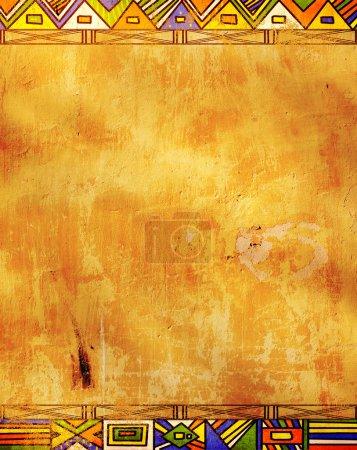Photo pour Grunge background - motifs traditionnels africains - image libre de droit